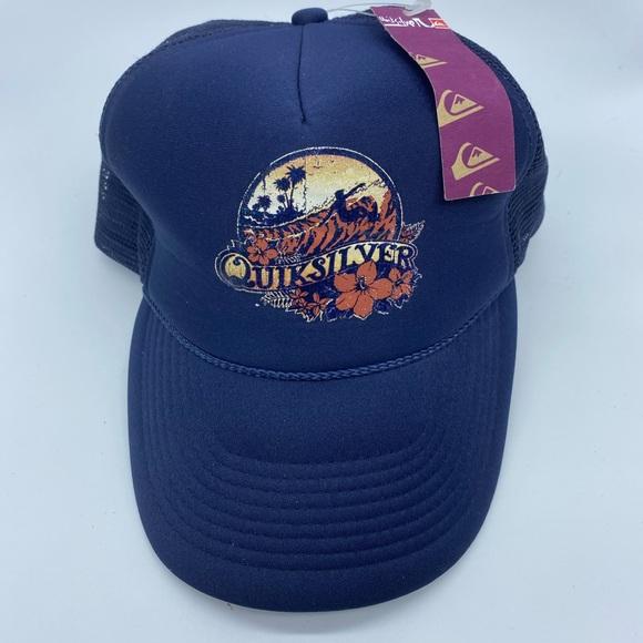 NWT Quicksilver SnapBack Trucker Hat